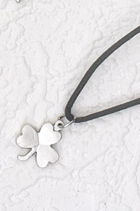 12-Pack - Shamrock Pendant on Black Cord