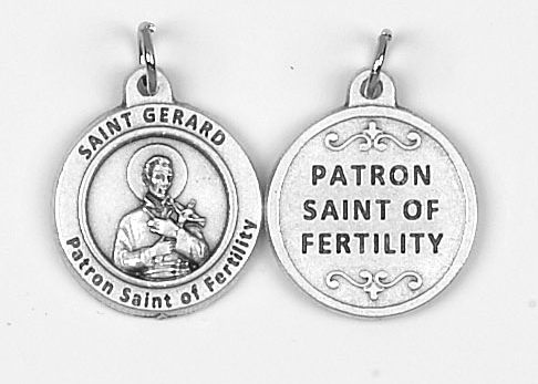 25-Pack - Healing Saints 3/4 inch Pendant with Saint Gerard - Patron Saint of Fertility