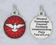 25-Pack - Come Holy Spirit 3/4 inch Enameled Pendant with 7 Gifts of the Holy Spirit on back