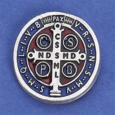 6-Pack - Saint Benedict Enamel Pendant (Blue) lapel Pin