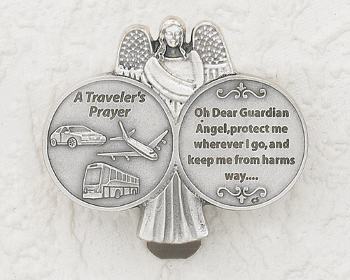 3-Pack - Travelers Prayer with O Dear Guardian Angel Visor Clip