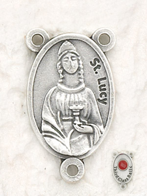 12-Pack - St Lucy Relic Rosary Center