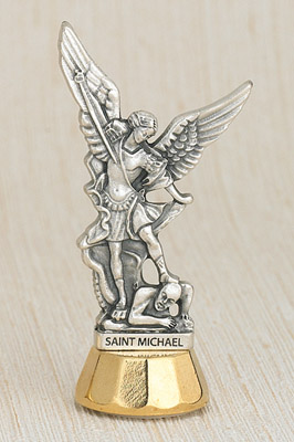 6-Pack - St Michael Adhesive Car Statuette
