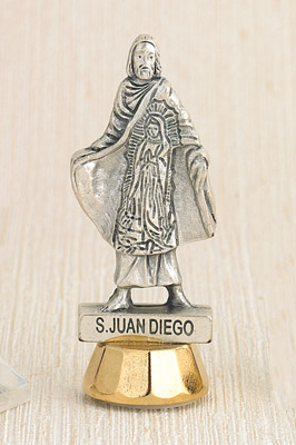 6-Pack - St Juan Diego Mini Statue with adhesive base