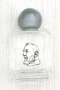 12-Pack - Holy Water Glass Bottle - Padre Pio