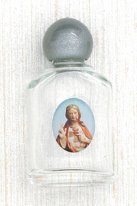 12-Pack - Sacred Heart Holy Water Bottle