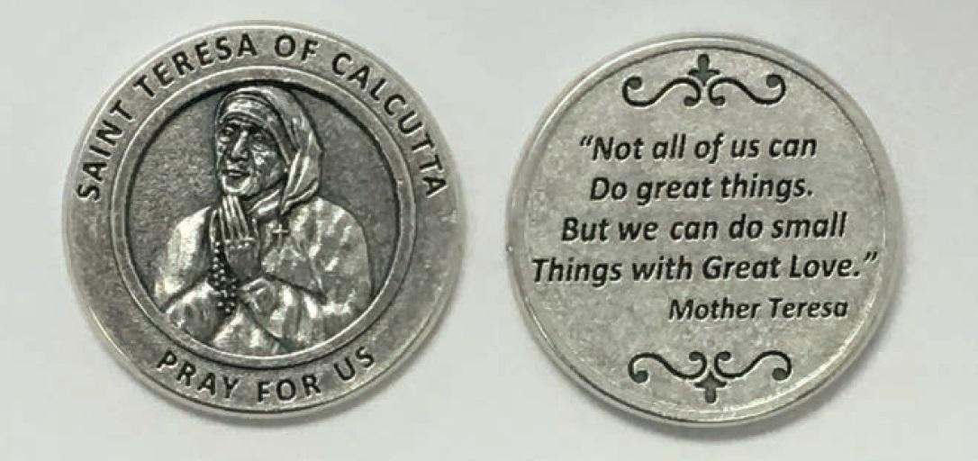25-Pack - Religious Coin Token - Saint Teresa-