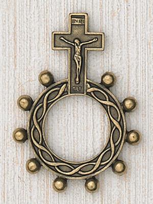 25-Pack - Finger Rosary-Brass