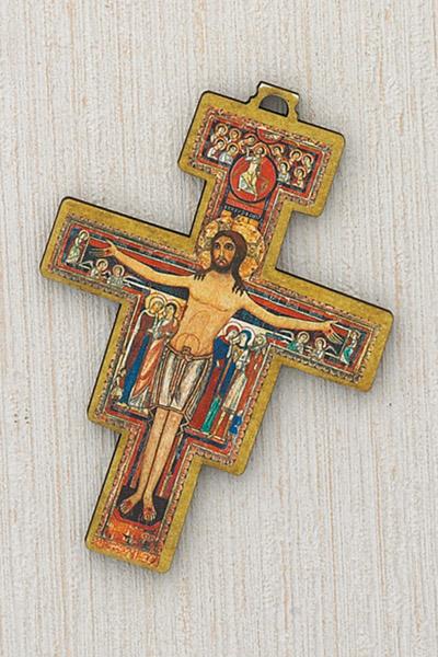 12-Pack - Fiberglass San Damiano Cross- 3 inch