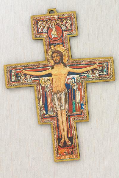 Fiberglass San Damiano Cross- 10 inch