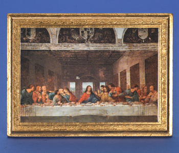 The Last Supper- Da Vinci- 7 x 5 inch Gold Leaf Made in Florence, Italy