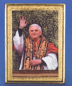 Pope Benedict XVI- 7 x 5 inch Gold Leaf Made in Florence, Italy