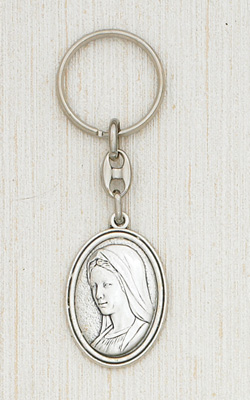 Silver Keyring- Mary Boxed