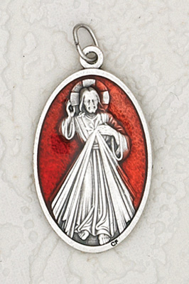 12 pack 1 12 inch red enamel divine mercy medal at catholic shop 12 pack 1 12 inch red enamel divine mercy pendant aloadofball Gallery