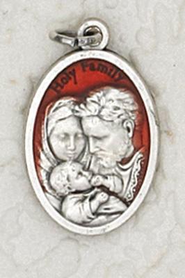 25-Pack - 3/4 inch Red Enamel Holy Family Pendant