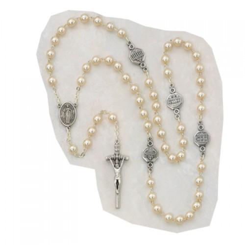 7MM Pearl Basilica Rosary