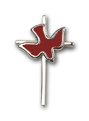 Sterling Silver Cross / Holy Spirit Pendant