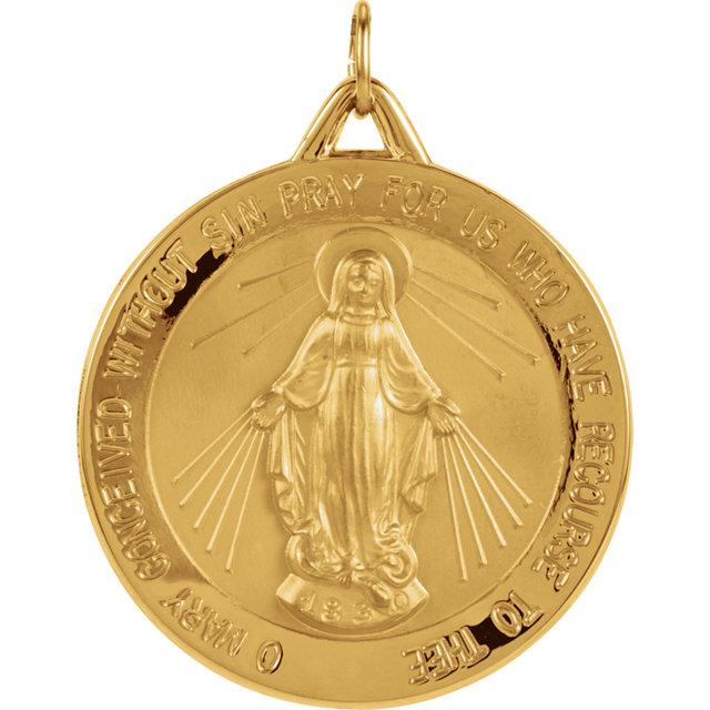 Miraculous Medal 18K