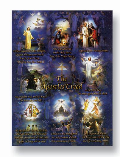 "19""X27"" Apostles Creed Poster"