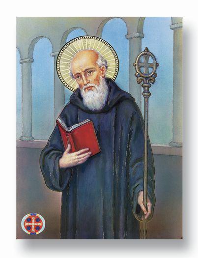 "19""X27"" St Benedict Poster"