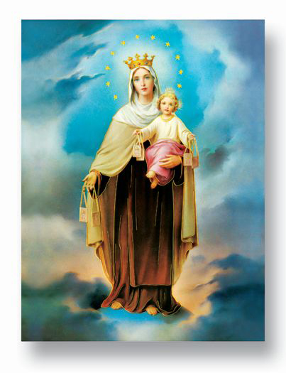 "19""X27"" Our Lady Of Mt Carmel Poster"