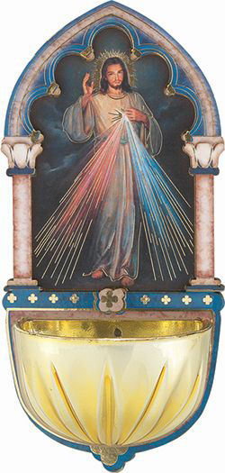"Divine Mercy Holy Water Font 5"" Multi-Dimensional"