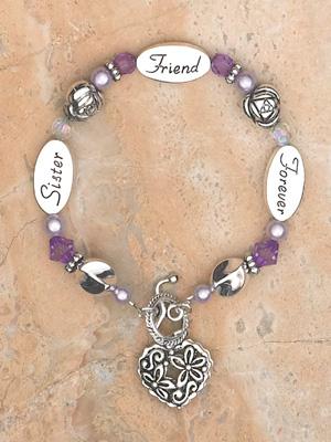Sister Bracelet- Silver Finish