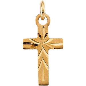 14K Gold Children's Cross Pendant
