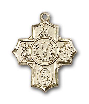 14K Gold Millennium Crucifix Pendant