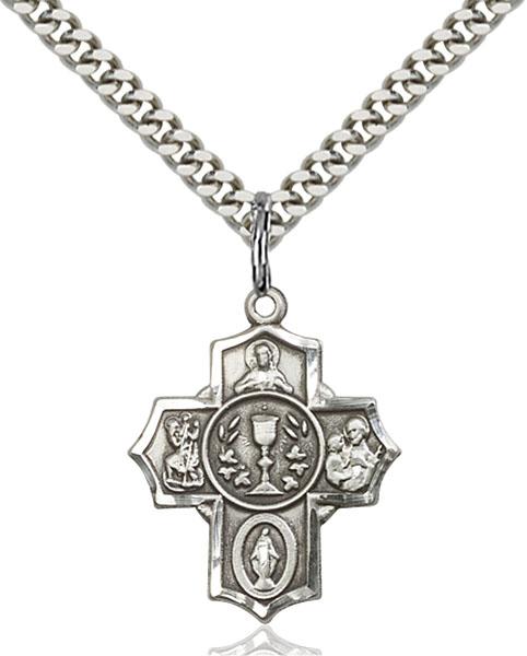 Sterling Silver Millennium Crucifix Pendant