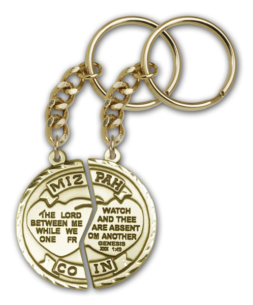 Antique Gold Miz Pah Keychain