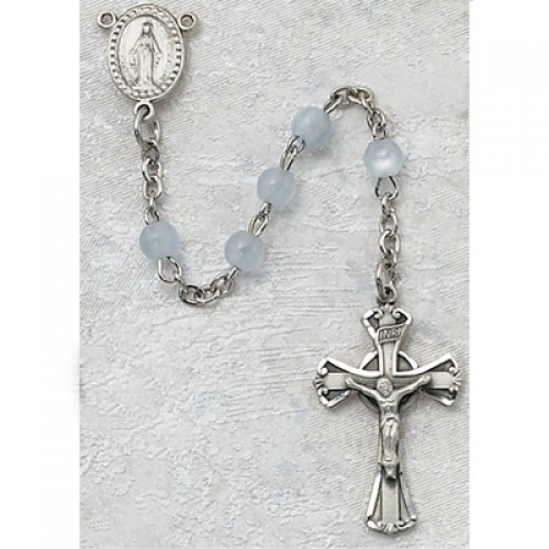 3MM Blue Glass Rosary