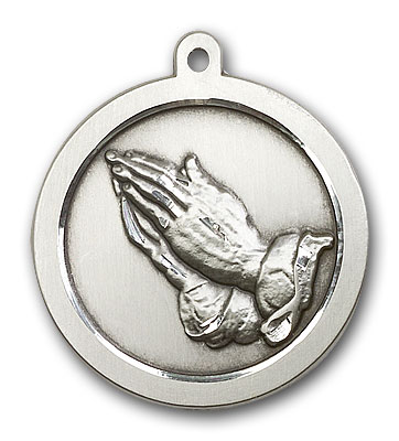 Sterling Silver Praying Hand Pendant