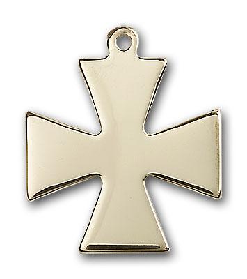 14K Gold Surfer Cross Pendant