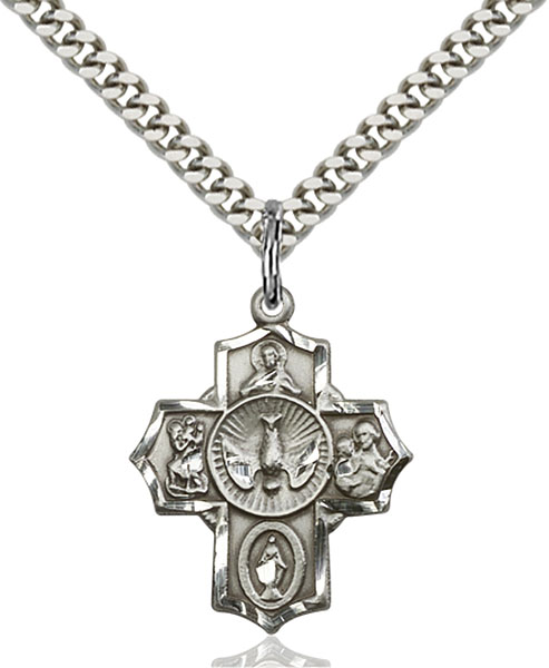 Sterling Silver 5-Way Pendant