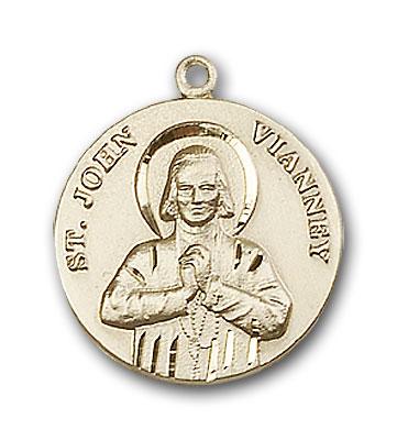 14K Gold St. John Vianney Pendant - Engravable