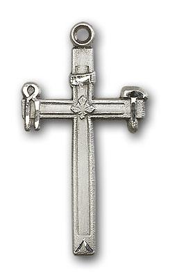 Sterling Silver Carpenter Cross Pendant