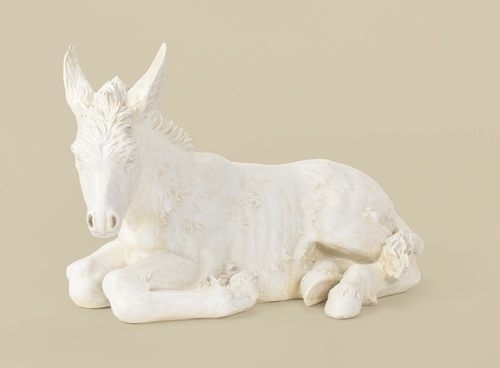 27-inch Scale White Donkey 13-inch H
