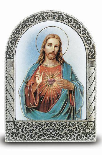 Sacred Heart Of Jesus Easel -