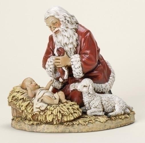 8.75-inch Kneeling Santa Fig