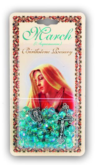 March-Aquamarine Birthstone Rosary