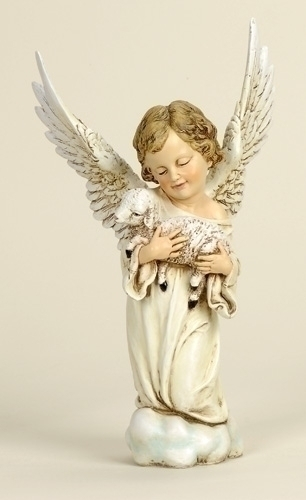 14-inch Cherub With Lamb Fig