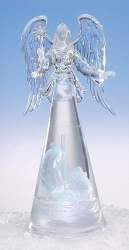14-inch Lited Angel With Holy Family