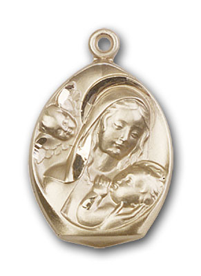 Gold-Filled Madonna & Child Pendant