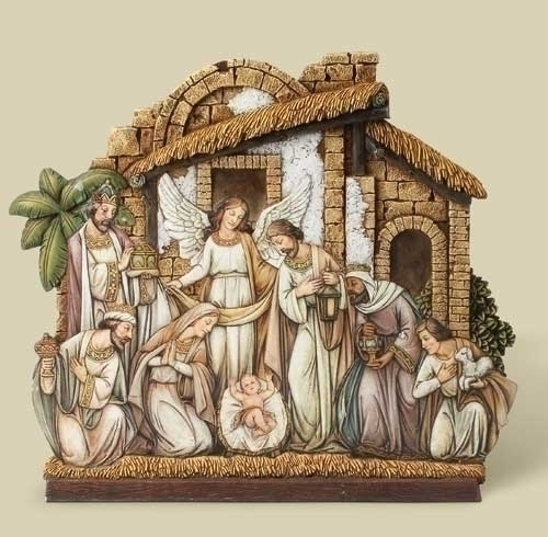 12-inch Nativity With Angel, Facade