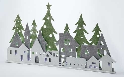 36-inch LED Layered Town Scene
