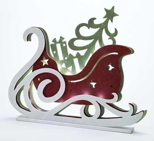 20-inch LED Layered Sleigh