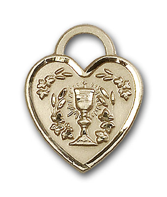 14K Gold Communion Heart Pendant - Engravable