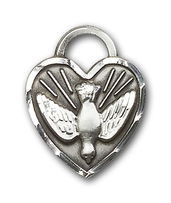 Sterling Silver Confirmation Heart Pendant