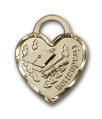 Gold-Filled Graduation Heart Pendant